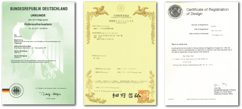 chen kuang industries company ltd md Taiwan patent document