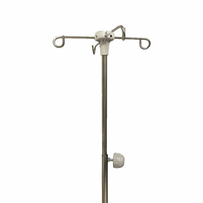 height adjustable 2 joint telescoping iv pole hooks hospital medical nursing care bed e4p ha3