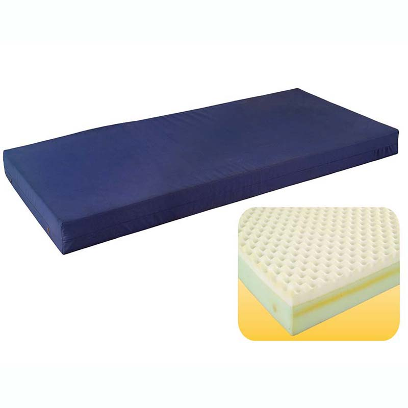 waterproof bed mattress waterproof cloth cover high density wave foam medical care bed eal hs3