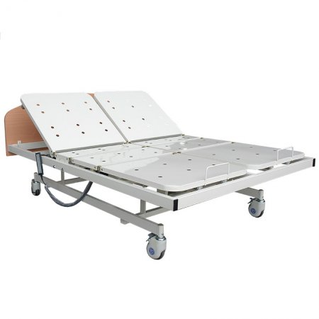 Homecare Electric Double Bed 6 Motors-steel panel-wood head foot board-nursing care-homecare-medical care-healthy care-870W9-Chen Kuang/六馬達雙人電動護理床-鋼板床面-木質床頭尾板-康復用-居家用-安養用-養護用-健康用-照護用-看護用-870W9-真廣